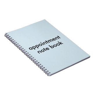 appointment note book