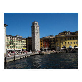 Apponale Tower and harbour at Riva del Garda. Posters