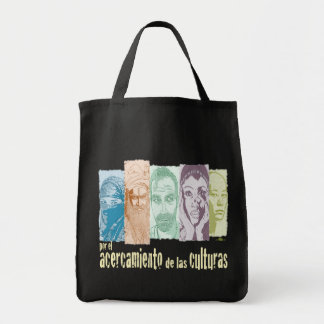 Approach of the cultures grocery tote bag