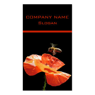 Approach on poppy flower pack of standard business cards