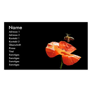 Approach on poppy flower - visiting card business card