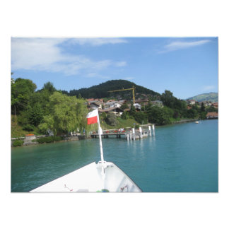 Approaching a stop on a cruise on Lake Thun Photographic Print