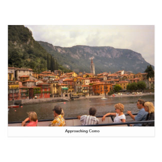 Approaching Como Postcard
