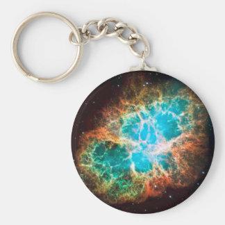 Approaching Crab Nebula Basic Round Button Key Ring