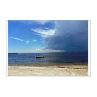 Approaching Storm over Tampa Bay Acrylic Print