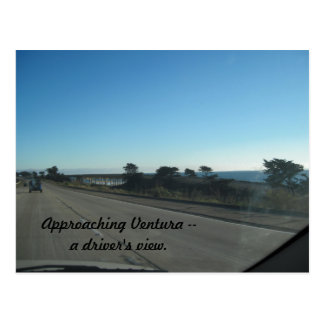Approaching Ventura by Car on 101 Postcard