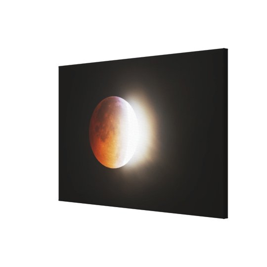 Approching the Total Eclipse of the Moon Canvas Print