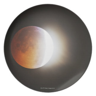 Approching the Total Eclipse of the Moon Plate