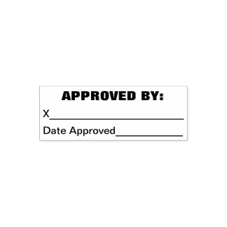 Approved By Business Stamp