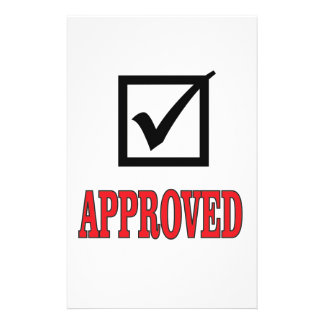 approved mark customised stationery