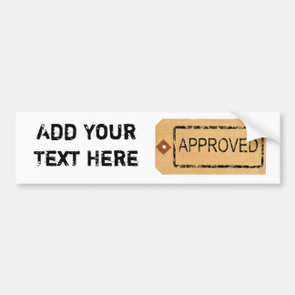 Approved Parcel Tag bumper sticker