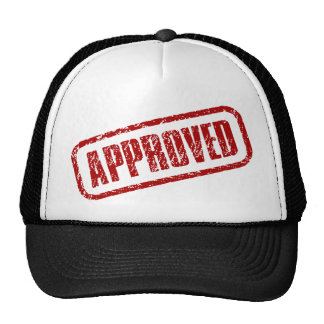 Approved stamp mesh hat