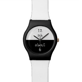Approximate Watch in Black and White.