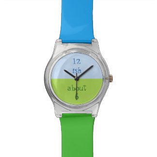 Approximate Watch in Blue and Green.