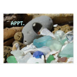 APPT. cards Beach Seaglass Reminder Card