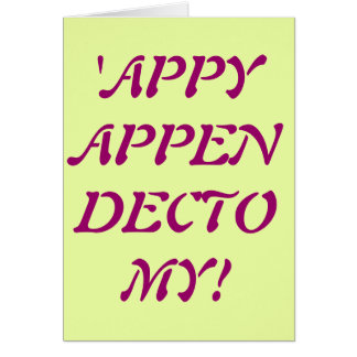 'APPY APPENDECTOMY card