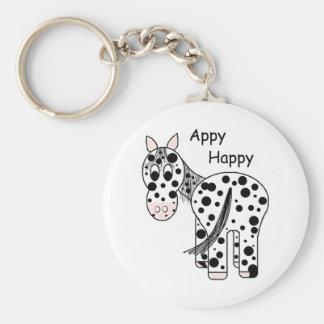 Appy Happy - Leopard Appaloosa Basic Round Button Key Ring