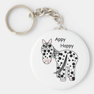 Appy Happy - Leopard Appaloosa Key Ring