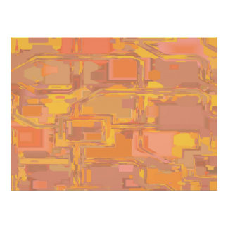 Apricot Abstract 3 Print