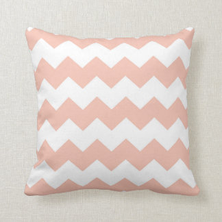 Apricot / Apricot Chevron Pattern Cushion