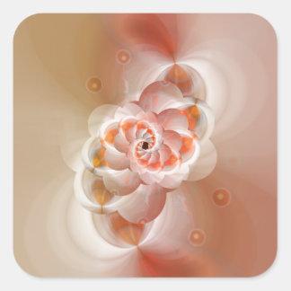 apricot by Tutti Square Sticker