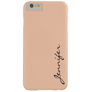 Apricot color background barely there iPhone 6 plus case
