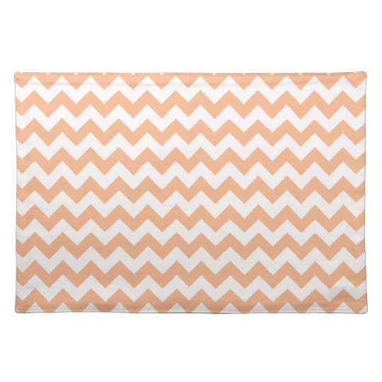 Apricot Colour Chevron; zig zag Placemat