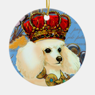 Apricot Cream Poodle King Christmas Ornament