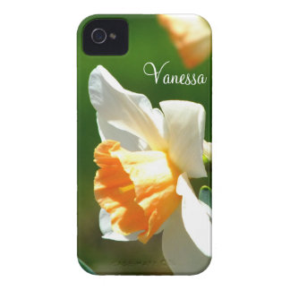 Apricot Daffodil iPhone 4 Case *Personalized*