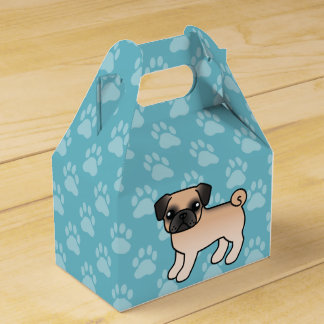 Apricot Fawn Pug With Morrison Mask Cartoon Dog Favour Box