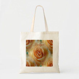 Apricot Garden Roses Mothersday Bag/Tote