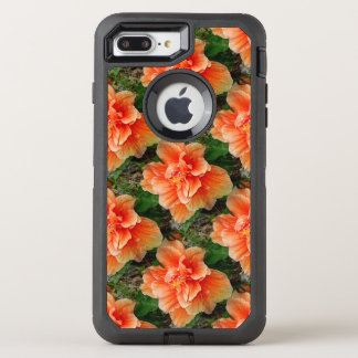 Apricot Hibiscus Tropical Flower OtterBox Defender iPhone 7 Plus Case