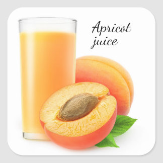 Apricot juice square sticker