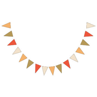 Apricot Orange Bunting Banner Flags