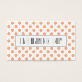 Apricot Polkadot Modern Appointment Business Card