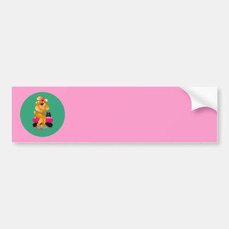 Apricot Poodle 50's Style Bumper Sticker