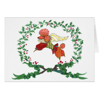 Apricot Poodle Barking for JOY! Card
