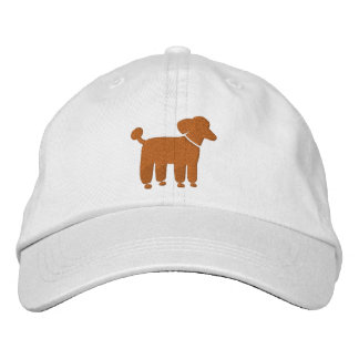 Apricot Poodle Dog Logo (Customizable Color) Embroidered Hat
