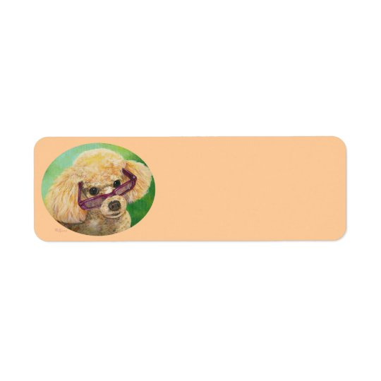 Apricot Poodle n Sunglasses Address Labels
