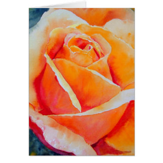 Apricot Rose Card