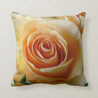 Apricot Rose Cushion