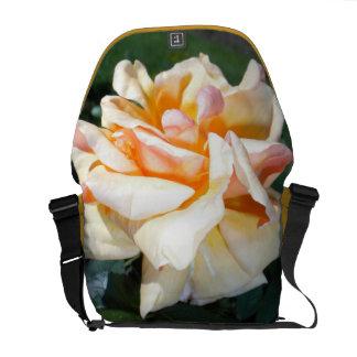 Apricot Rose Rickshaw Messenger Bag