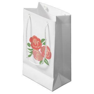 Apricot Roses Gift Bag