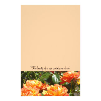 Apricot Roses Stationery