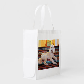 Apricot Standard Poodle - Bocelli Reusable Grocery Bag