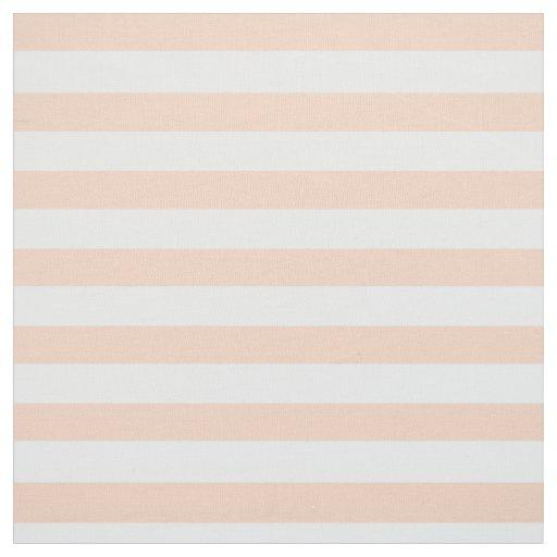 Apricot Striped Fabric