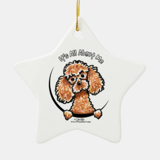 Apricot Toy Miniature Poodle IAAM Christmas Ornament