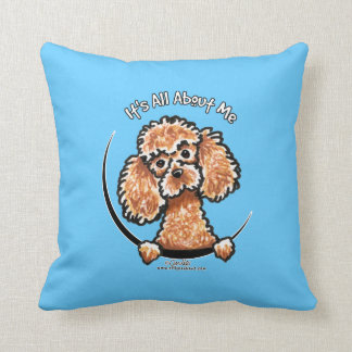 Apricot Toy Miniature Poodle IAAM Cushion