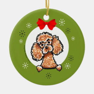 Apricot Toy Poodle Christmas Classic Christmas Ornament