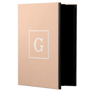 Apricot White Framed Initial Monogram Powis iPad Air 2 Case